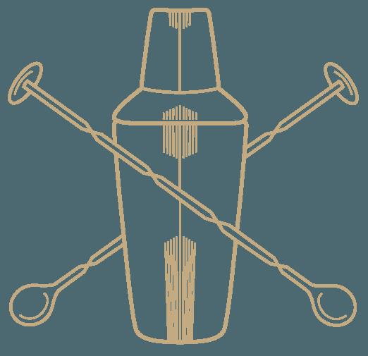 shake and stir Logo